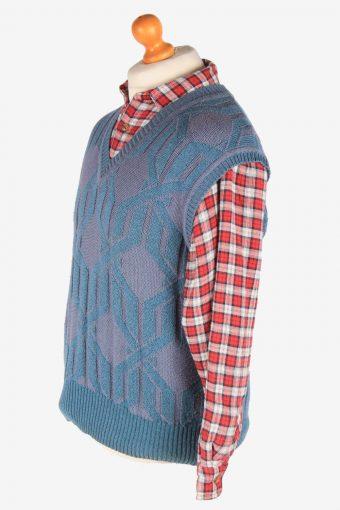 Sleeveless Jumper Sweater Vest Pullover Vintage Light Green Size M -IL2636-164609
