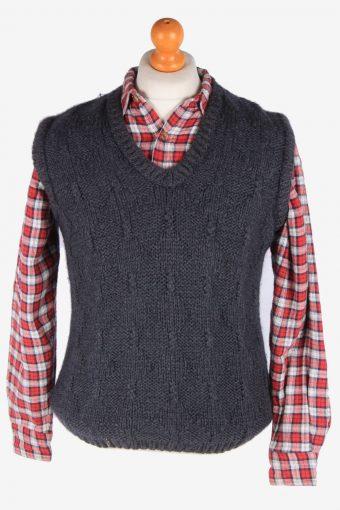 Womens Jumper Sweater Vest Pullover Vintage Size S Dark Grey -IL2643-164512