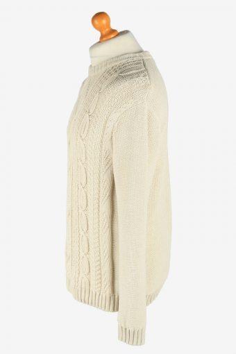 Chaps Crew Neck Caple Jumper Pullover Vintage Size M Beige -IL2457-161240