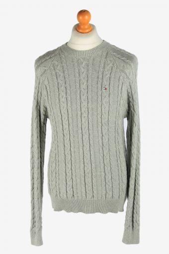 Tommy Hilfiger Crew Neck Jumper Pullover 90s Grey M