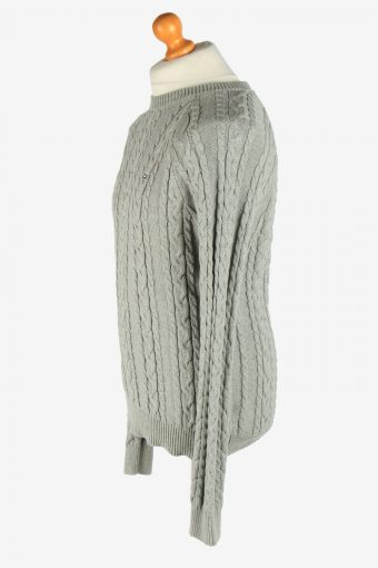Tommy Hilfiger Crew Neck Jumper Pullover Vintage Size M Grey -IL2460-161252
