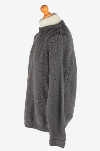 Chaps Crew Neck Caple Jumper Pullover Vintage Size XL Dark Grey -IL2461-161256