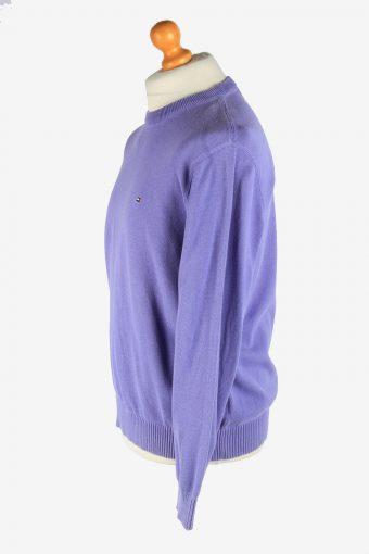 Tommy Hilfiger Crew Neck Jumper Pullover Vintage Size L Light Purple -IL2462-161260