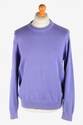 Tommy Hilfiger Crew Neck Jumper Pullover 90s Purple L