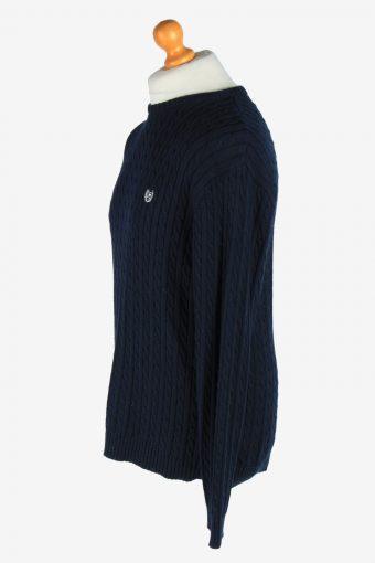 Chaps Crew Neck Jumper Pullover Vintage Size M Navy -IL2464-161268