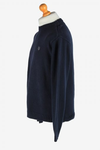 Chaps Crew Neck Jumper Pullover Vintage Size L Navy -IL2466-161276