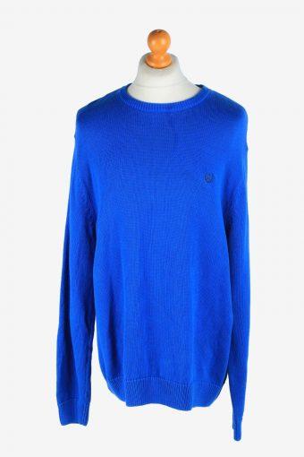 Chaps Crew Neck Jumper Pullover 90s Blue XL