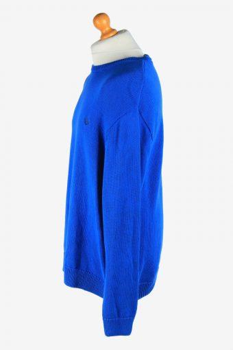 Chaps Crew Neck Jumper Pullover Vintage Size XL Blue -IL2468-161284