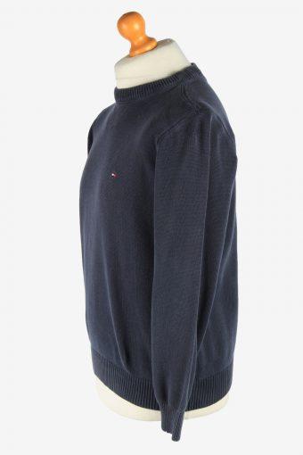 Tommy Hilfiger Crew Neck Jumper Pullover Vintage Size M Black -IL2469-161288