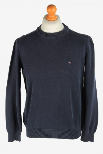 Tommy Hilfiger Crew Neck Jumper Pullover 90s Black M
