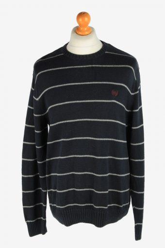 Chaps Crew Neck Jumper Pullover 90s Black L