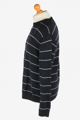 Chaps Crew Neck Jumper Pullover Vintage Size L Black -IL2470-161292