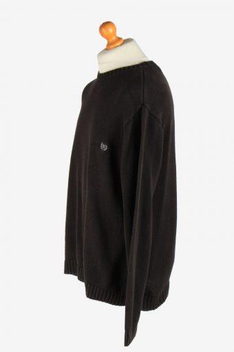 Chaps Crew Neck Jumper Pullover Vintage Size XL Black -IL2471-161296