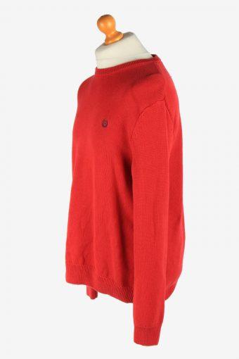 Chaps Crew Neck Jumper Pullover Vintage Size L Red -IL2475-161312