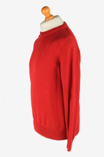 Tommy Hilfiger Crew Neck Jumper Pullover Vintage Size M Red -IL2476-161316