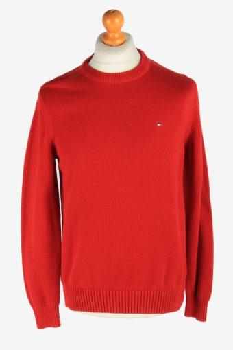 Tommy Hilfiger Crew Neck Jumper Pullover 90s Red M