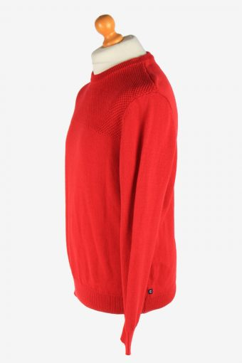 Chaps Crew Neck Jumper Pullover Vintage Size S Red -IL2478-161324