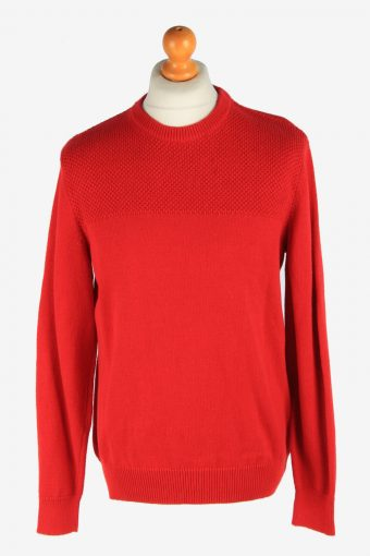 Chaps Crew Neck Jumper Pullover 90s Red S