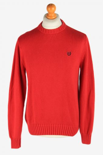 Chaps Crew Neck Jumper Pullover 90s Red XL