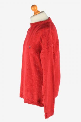 Chaps Crew Neck Jumper Pullover Vintage Size L Red -IL2480-161332