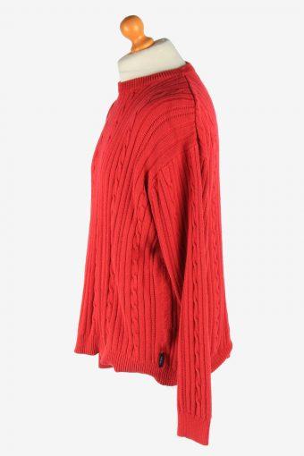 Chaps Crew Neck Jumper Pullover Vintage Size L Red -IL2481-161336