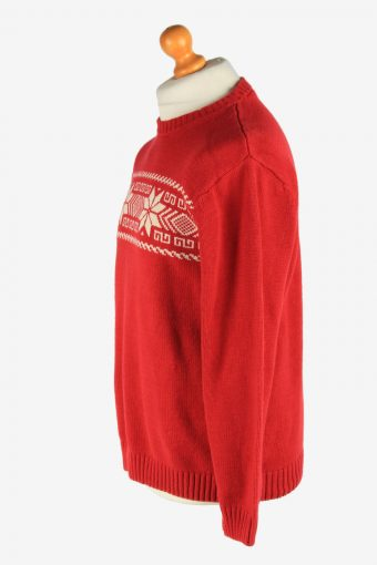 Chaps Crew Neck Jumper Pullover Vintage Size M Red -IL2483-161344