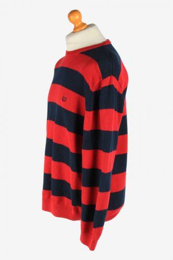 Chaps Crew Neck Jumper Pullover Vintage Size L Red -IL2485-161352