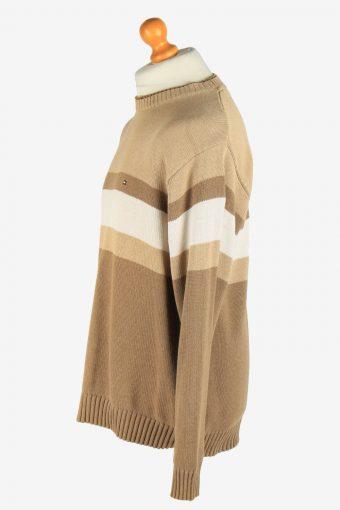 Tommy Hilfiger Crew Neck Jumper Pullover Vintage Size L Coffee -IL2486-161356