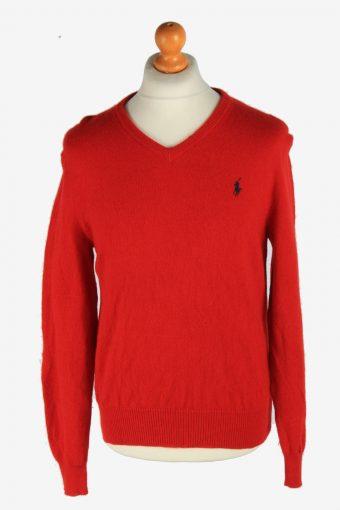 Polo Ralph Lauren V Neck Jumper Pullover 90s Red M