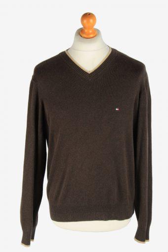 Tommy Hilfiger V Neck Jumper Pullover 90s Dark Brown M