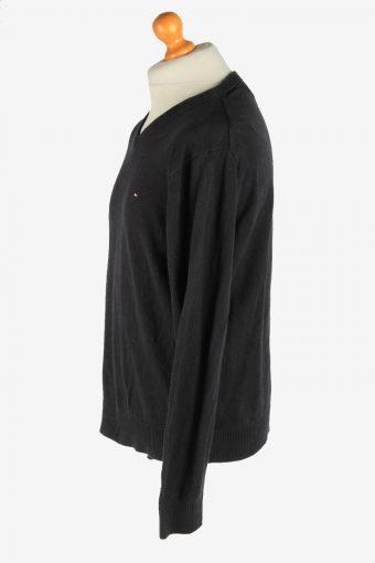 Tommy Hilfiger V Neck Jumper Pullover Vintage Size XL Black -IL2500-161412