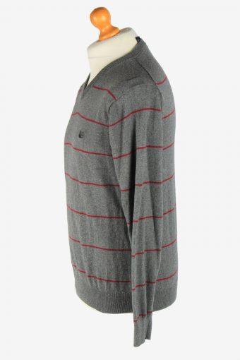 Chaps V Neck Jumper Pullover Vintage Size M Grey -IL2503-161424