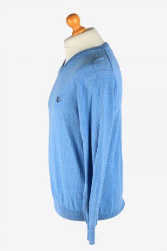 Chaps V Neck Jumper Pullover Vintage Size M Light Blue -IL2508-161444