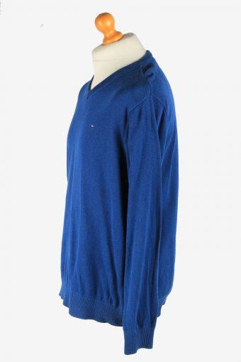 Tommy Hilfiger V Neck Jumper Pullover Vintage Size XL Dark Blue -IL2511-161456
