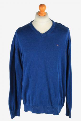 Tommy Hilfiger V Neck Jumper Pullover 90s Dark Blue XL