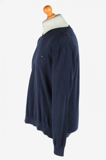 Tommy Hilfiger V Neck Jumper Pullover Vintage Size XL Navy -IL2512-161460