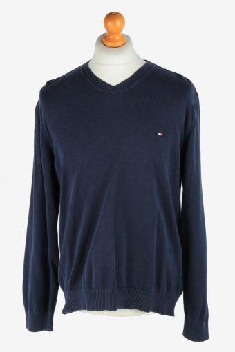 Tommy Hilfiger V Neck Jumper Pullover 90s Navy XL
