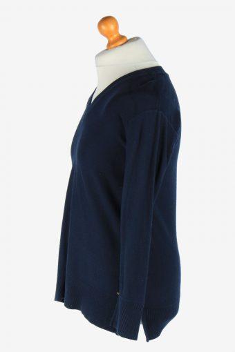 Tommy Hilfiger V Neck Jumper Pullover Vintage Size M Navy -IL2514-161468