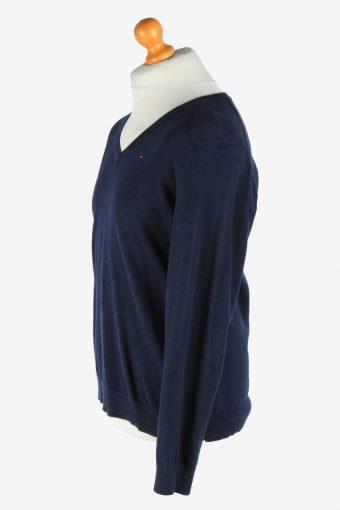 Tommy Hilfiger V Neck Jumper Pullover Vintage Size XL Navy -IL2515-161472