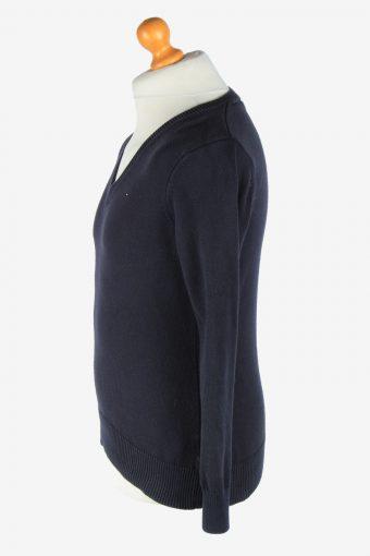 Tommy Hilfiger V Neck Jumper Pullover Vintage Size XL Navy -IL2516-161476
