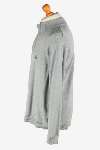 Chaps Zip Neck Jumper Pullover Vintage Size XL Grey -IL2526-162227