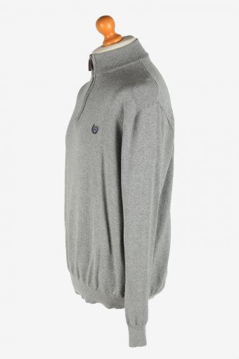 Chaps Zip Neck Jumper Pullover Vintage Size XL Grey -IL2527-162231
