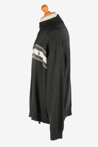 U.S Polo ASSN. Half Zip Neck Jumper Pullover Vintage Size XXXL Dark Grey -IL2528-162235