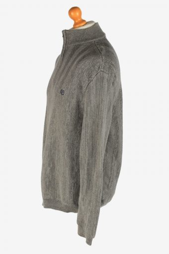 Chaps Half Zip Neck Jumper Pullover Vintage Size XL Grey -IL2529-162239