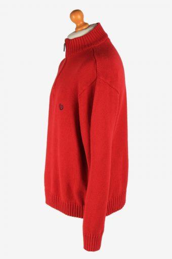 Chaps Half Zip Neck Jumper Pullover Vintage Size XXL Red -IL2530-162243