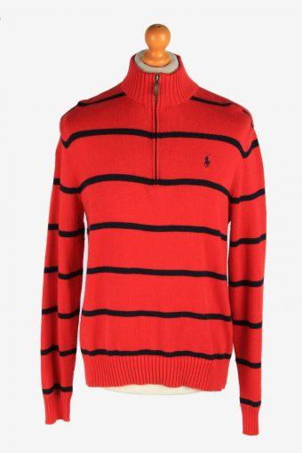 Polo Ralph Lauren Half Zip Neck Jumper Pullover 90s Red M