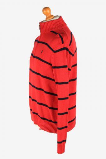 Polo Ralph Lauren Half Zip Neck Jumper Pullover Vintage Size M Red -IL2531-162247