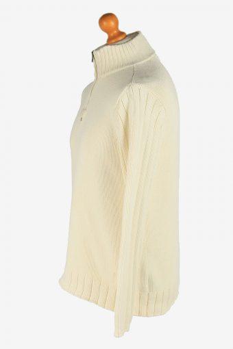 Polo Ralph Lauren Half Zip Neck Jumper Pullover Vintage Size M Beige -IL2540-161615