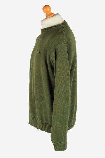 Tommy Hilfiger Crew Neck Jumper Pullover Vintage Size L Dark Green -IL2542-162291