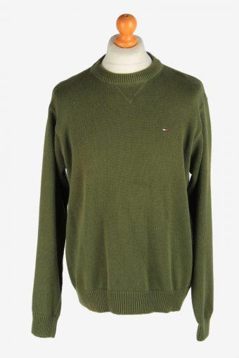 Tommy Hilfiger Crew Neck Jumper Pullover 90s Dark Green L